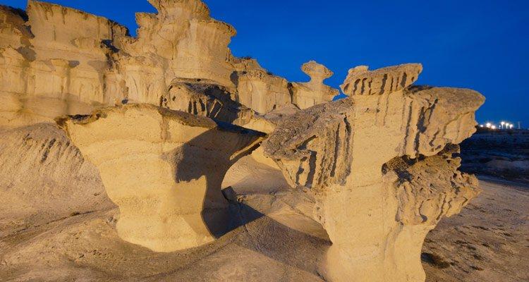 Erosiones de Bolnuevo. Foto: Turismo de Mazarrón