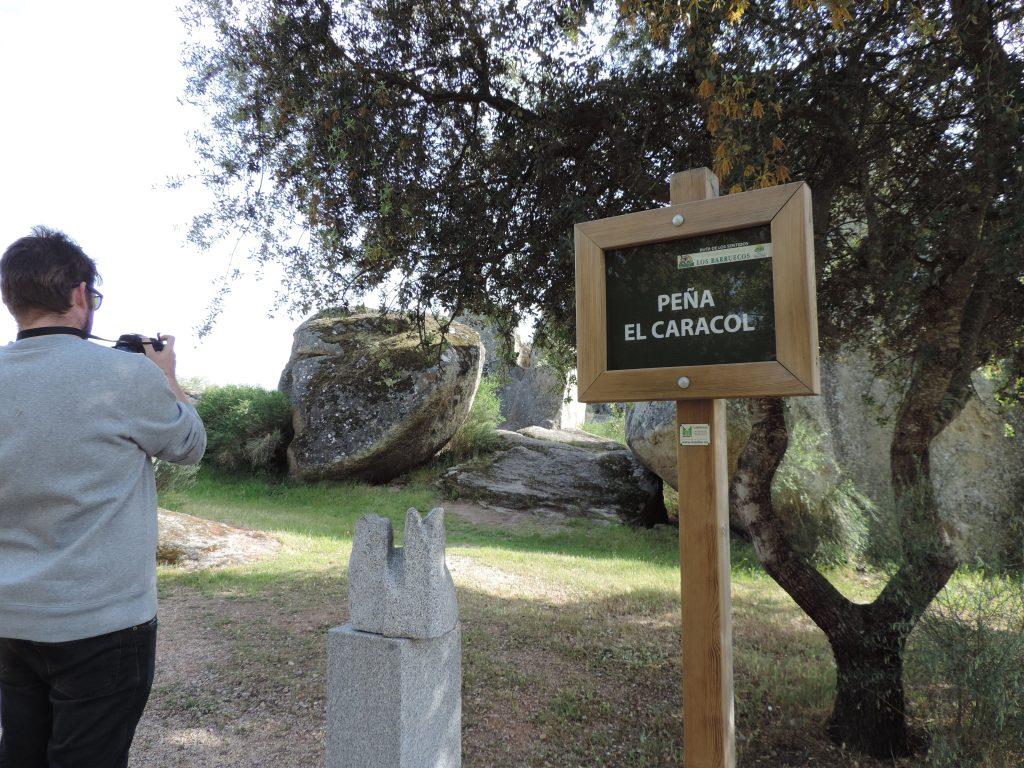 Peña del Caracol, en Los Barruecos (Extremadura)