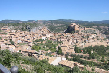 Vista general de la villa medieval de Alquézar