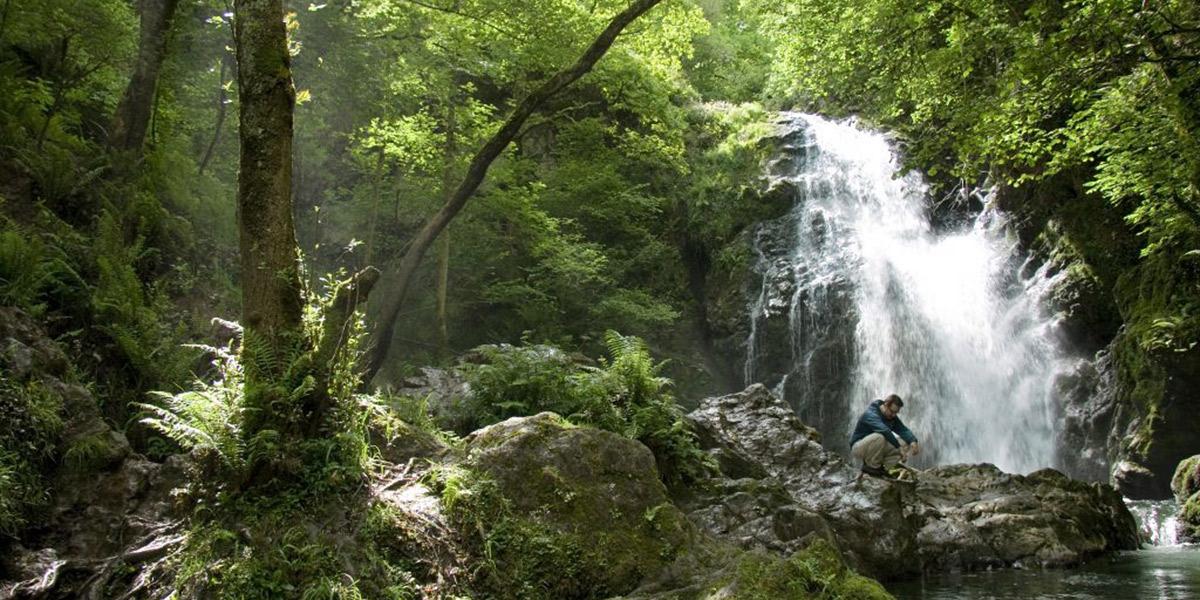 Detalle de la cascada del Xorroxín, en el Pirineo Navarro