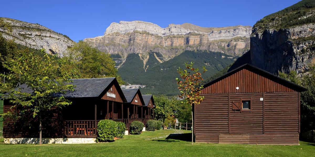 Vistas del Valle de Ordesa, desde los Bungalows Ordesa