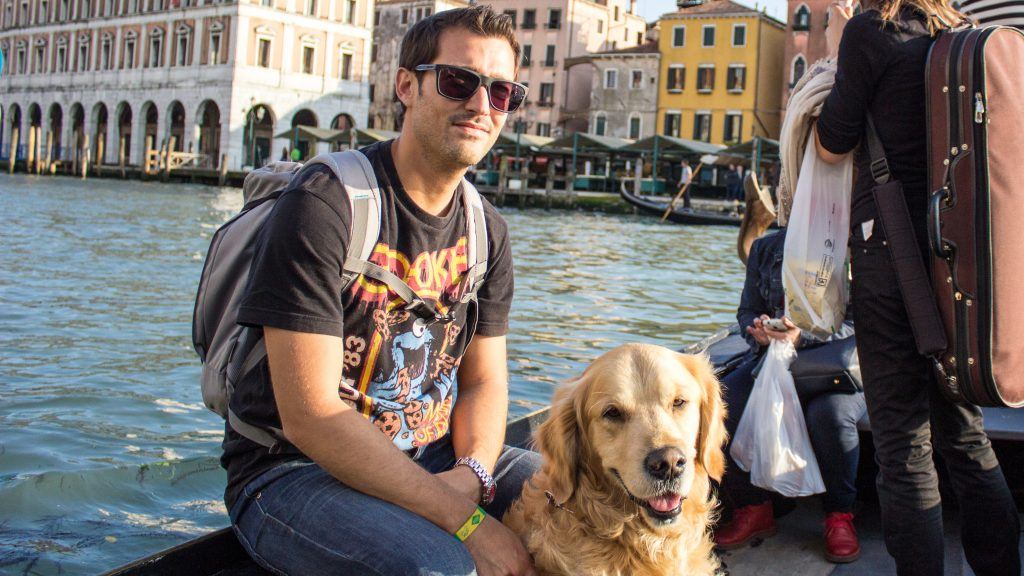 Meko y Javier en Italia, un país muy petfriendly