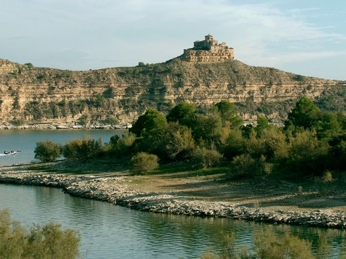 Isla de la Magdalena, en el Mar de Aragón. Foto: Ayuntamiento de Caspe