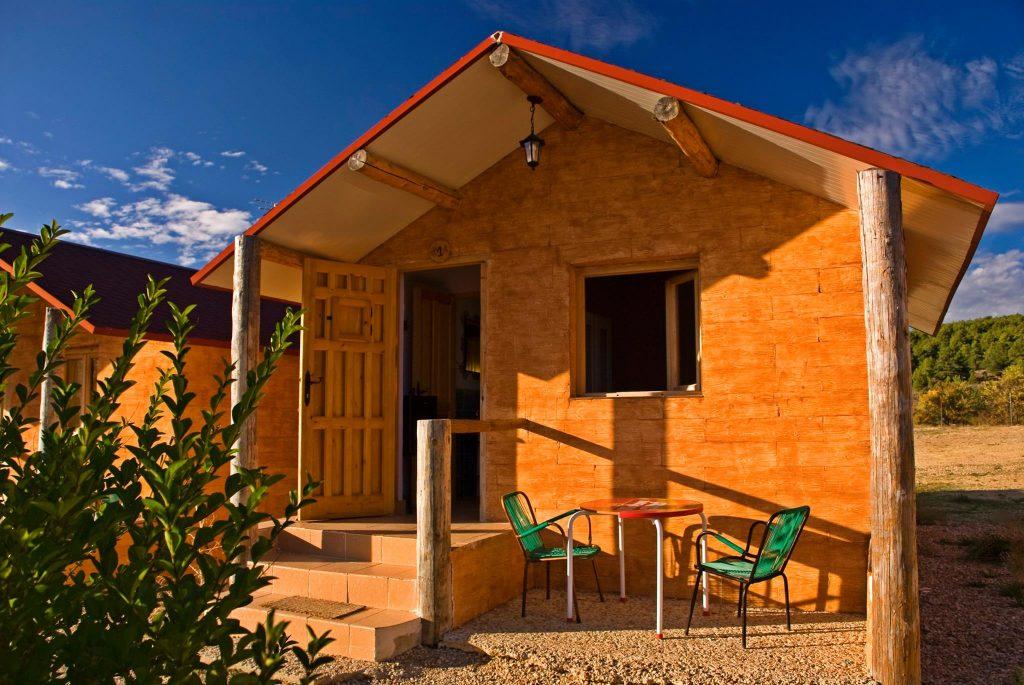 Cabaña para dos, en el Camping Las Majadas