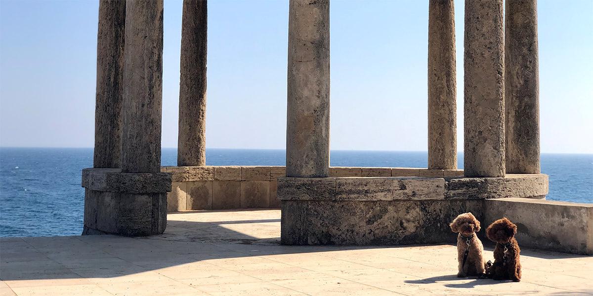 El templete, un lugar perfecto para una foto en el Camino de Ronda de s'Agaró