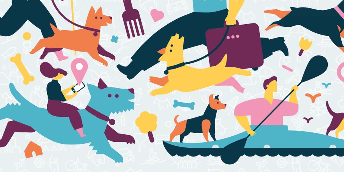"""Ilustraciones de la quinta edición de la guía """"Viajando con mi mascota"""""""