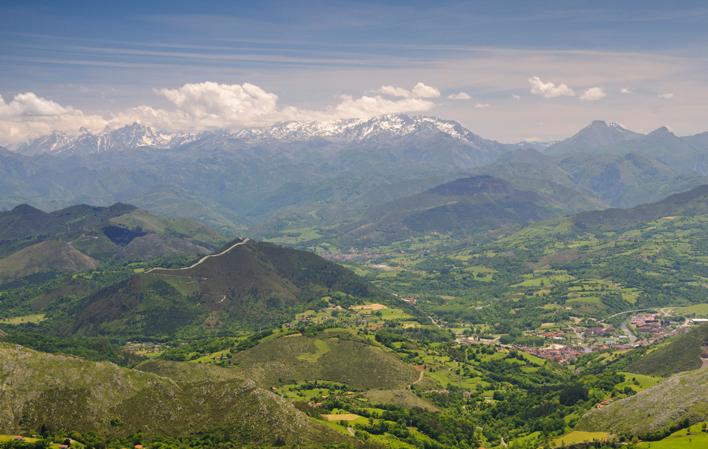 Pico Pienzu, en la Sierra del Sueve