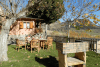Espacios exteriores en bungalow