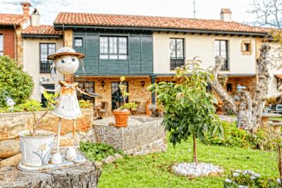 Jardín con mobiliario