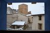 Vistas desde la ventana en invierno