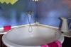 Baño con bañera redonda