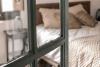 Menta Rural habitación con cama de matrimonio